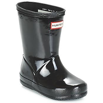 Topánky Deti Čižmy do dažďa Hunter KIDS FIRST CLASSIC GLOSS Čierna
