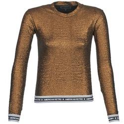 Oblečenie Ženy Tričká s dlhým rukávom American Retro ALLAN Zlatá