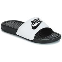 Topánky Muži športové šľapky Nike BENASSI JUST DO IT Biela / Čierna