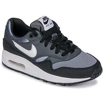Topánky Chlapci Nízke tenisky Nike AIR MAX 1 GRADE SCHOOL Čierna / Šedá