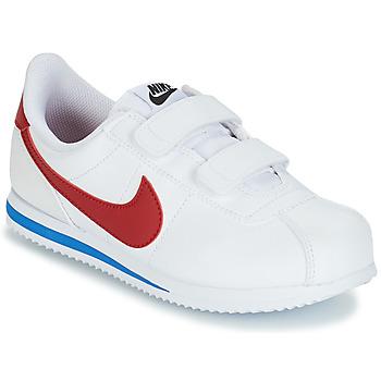 Topánky Chlapci Nízke tenisky Nike CORTEZ BASIC PRE-SCHOOL Biela / Modrá / Červená