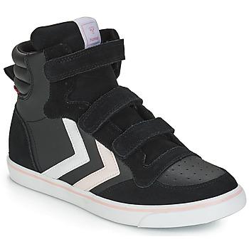 Topánky Dievčatá Členkové tenisky Hummel STADIL LEATHER JR Čierna