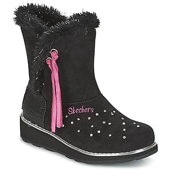 Topánky Dievčatá Obuv do snehu Skechers SPARKLES Čierna / Ružová