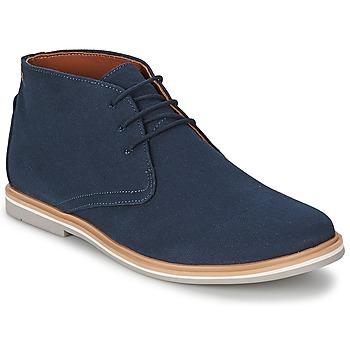 Topánky Muži Polokozačky Frank Wright BARROW Námornícka modrá / Canvas