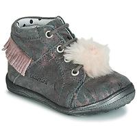 Topánky Dievčatá Členkové tenisky Catimini PEPITA Sivá-striekaná / Ružová