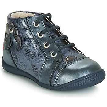 Topánky Dievčatá Polokozačky GBB NICOLE Námornícka modrá