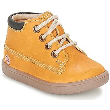 Topánky Chlapci Polokozačky GBB NORMAN Žltá horčicová
