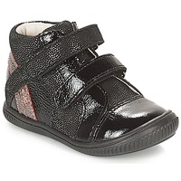 Topánky Dievčatá Členkové tenisky GBB ROXANE Čierna / Strieborná