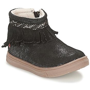 Topánky Dievčatá Polokozačky GBB NEFFLE Čierna / Disco