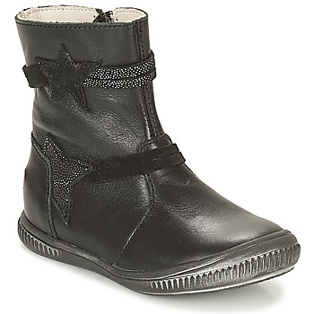 Topánky Dievčatá Polokozačky GBB NOTTE Čierna