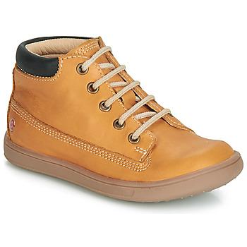 Topánky Chlapci Členkové tenisky GBB NORMAN Okrová-svetlá hnedá