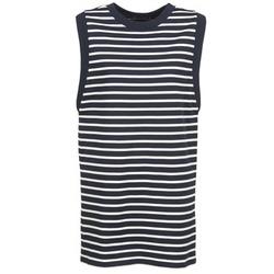 Oblečenie Ženy Krátke šaty Petit Bateau MARBRE Námornícka modrá / Krémová