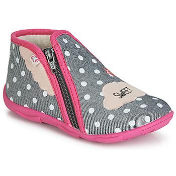 Topánky Dievčatá Papuče GBB MILKY Šedo-ružová