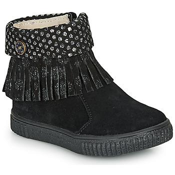 Topánky Dievčatá Polokozačky Catimini PERETTE Ctv / Čierna