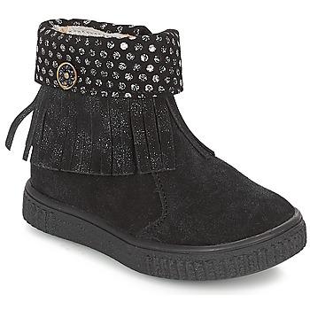 Topánky Dievčatá Polokozačky Catimini PERETTE Čierna / Strieborná