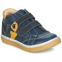 Topánky Chlapci Členkové tenisky Catimini BICHOU Námornícka modrá / Žltá horčicová