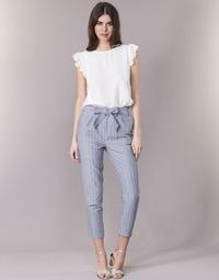 Oblečenie Ženy Nohavice päťvreckové Betty London IKARALE Modrá / Biela