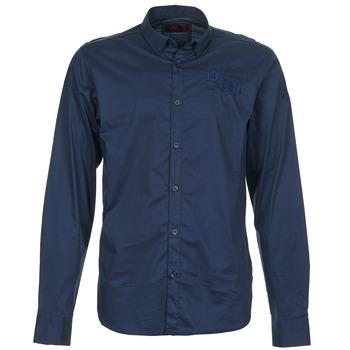 Oblečenie Muži Košele s dlhým rukávom Les voiles de St Tropez ACOUPA Námornícka modrá