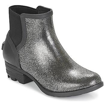 Topánky Ženy Polokozačky Sorel JANEY™ CHELSEA Čierna   Strieborná 9dc3a368d79