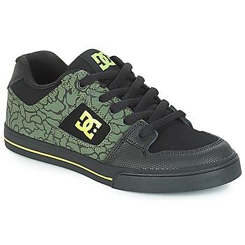 Topánky Deti Nízke tenisky DC Shoes PURE SE B SHOE BK9 Čierna / Zelená
