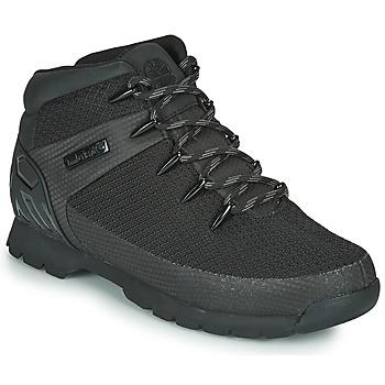 Topánky Muži Polokozačky Timberland Euro Sprint Fabric WP Čierna