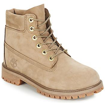 Topánky Deti Polokozačky Timberland 6 In Premium WP Boot Béžová