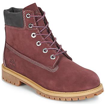 Topánky Deti Polokozačky Timberland 7 In Premium WP Boot Bordová