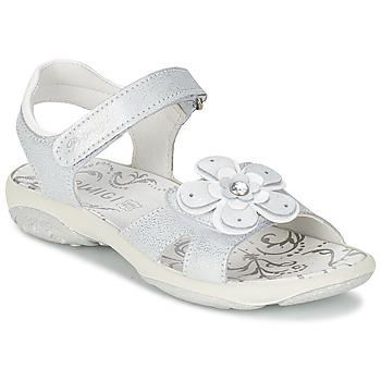 Topánky Dievčatá Sandále Primigi LINA Biela / Strieborná