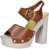 Topánky Ženy Sandále Suky Brand sandali marrone pelle AC482 Marrone