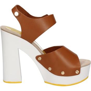 Topánky Ženy Sandále Suky Brand sandali marrone pelle AC483 Marrone
