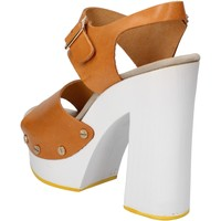 Topánky Ženy Sandále Suky Brand sandali marrone pelle AC485 Marrone