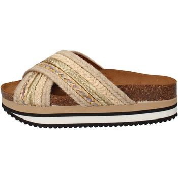 Topánky Ženy športové šľapky 5 Pro Ject sandali beige tessuto oro AC586 Beige