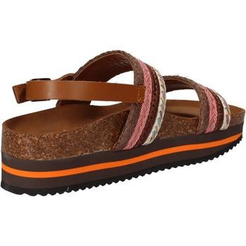 Topánky Ženy Sandále 5 Pro Ject sandali rosa tessuto marrone AC592 Rosa