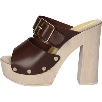 Topánky Ženy Sandále Suky Brand sandali marrone pelle AC764 Marrone