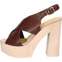 Topánky Ženy Sandále Suky Brand sandali marrone pelle AC799 Marrone