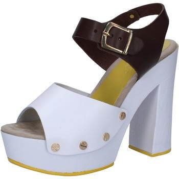 Topánky Ženy Sandále Suky Brand sandali bianco pelle marrone AC809 Multicolore
