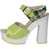 Topánky Ženy Sandále Suky Brand sandali verde vernice tessuto AC811 Verde