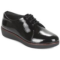Topánky Ženy Derbie FitFlop CRINKLE PATENT Čierna