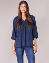 Oblečenie Ženy Blúzky MICHAEL Michael Kors SCALLP GRMT CHAIN TOP Námornícka modrá