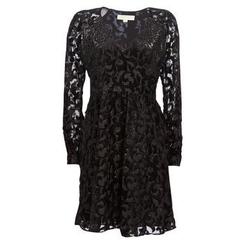 Oblečenie Ženy Krátke šaty MICHAEL Michael Kors RAGLAN SLV SHORT DRS Čierna