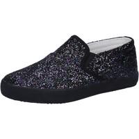 Topánky Dievčatá Slip-on Date Tenisky AD836 Čierna