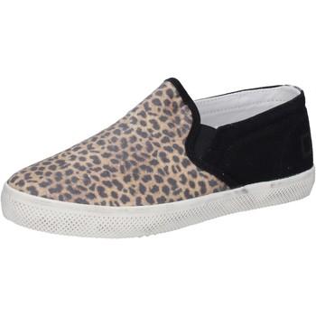 Topánky Dievčatá Slip-on Date Tenisky AD837 Čierna