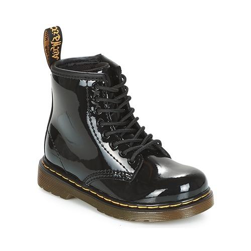 Topánky Dievčatá Polokozačky Dr Martens 1460 PATENT CADET Čierna
