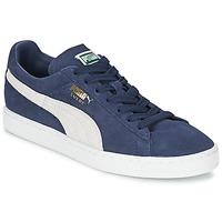 Topánky Nízke tenisky Puma SUEDE CLASSIC Modrá / Biela
