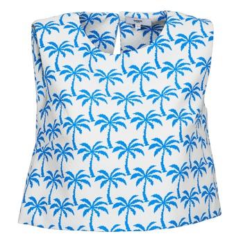 Oblečenie Ženy Tielka a tričká bez rukávov Suncoo LANA Biela / Modrá