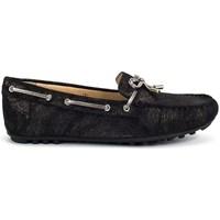 Topánky Ženy Námornícke mokasíny Geox Leelyan Čierna