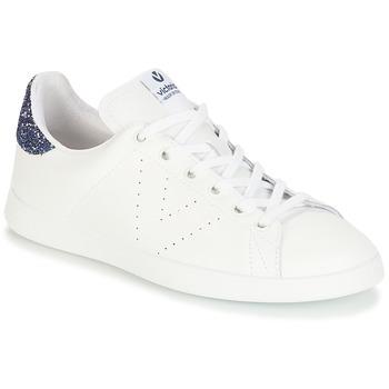 Topánky Dievčatá Nízke tenisky Victoria DEPORTIVO BASKET PIEL Biela / Modrá