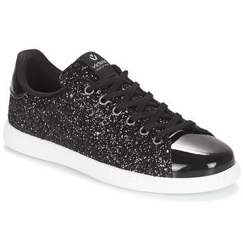 Topánky Ženy Nízke tenisky Victoria DEPORTIVO BASKET GLITTER Čierna