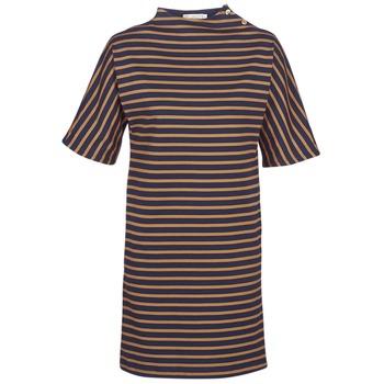 Oblečenie Ženy Krátke šaty Petit Bateau TUESDAY Námornícka modrá / Žltá