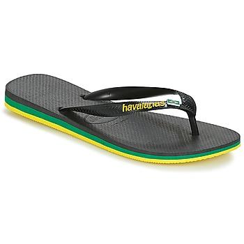 Topánky Muži Žabky Havaianas Brasil Layers Čierna